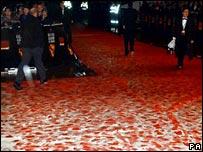 The 2002 Bafta Awards, when rain left the red carpet foaming