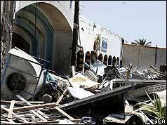 Hotel wreckage