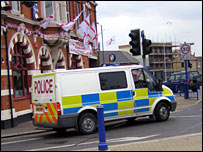 Police van in Sheerness