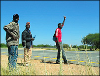 Zimbabwean hitchhikers