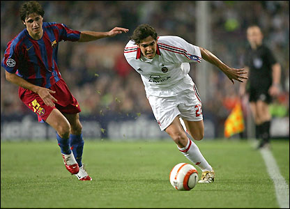 AC Milan's Kaka goes past Edmilson