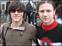 Students Vladislav Krivoborodo and Denis Kozlov