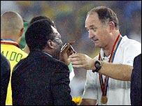 Luiz Felipe Scolari and Pele
