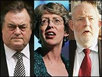 John Prescott, Patricia Hewitt and Charles Clarke