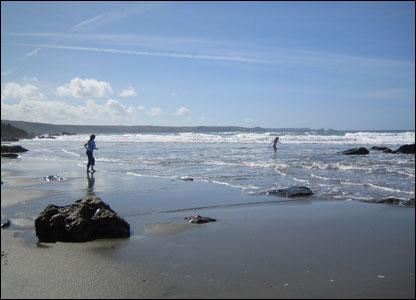 Tregardock Beach, North Cornwall.