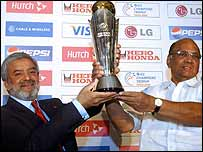 ICC president Ehsan Mani and BCCI president Sharad Pawar