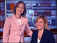 Anna Ford and Sophie Raworth
