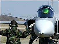 Swedish-made Gripen fighter