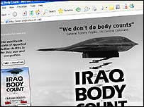 Iraq Body Count website
