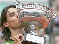 2005 French Open winner Rafael Nadal