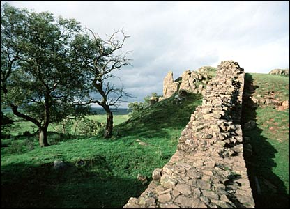 Part of Hadrian's Wall in Northumberland