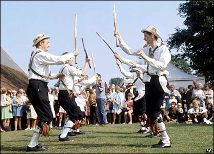 Morris dancers, picture from topfotos.co.uk/PA