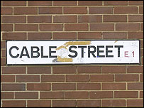 Cable Street sign