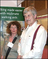 Photo of Anne and Ken Armitage at Naidex