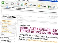 Media Lens website