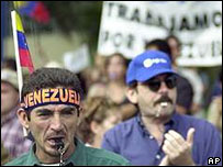 Huelga petrolera en Venezuela