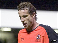 Dundee United midfielder Grant Brebner