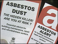 Asbestos warning leaflets