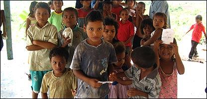 Niños del colectivo infantil del barrio Las Margaritas