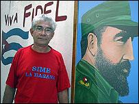 Rafael Santiesteban, vecino que participó en el repudio a la disidente (foto Raquel Pérez)