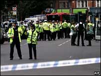 Police seal off Shepherd's Bush underground station on 21 July