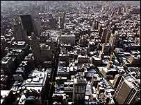 View from the observation deck of the Empire State Building