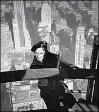 Worker on the construction of the Empire State Building