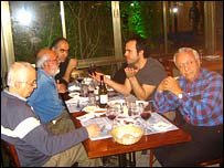 Iranian academics living in Israel meet for dinner