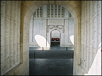 The Menin Gate Memorial in Ypres