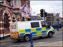 Police van in Sheerness