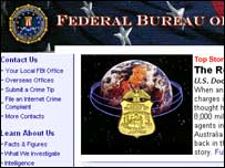 Screengrab of FBI website, FBI