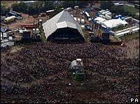 Pyramid Stage at Glastonbury Festival 2005