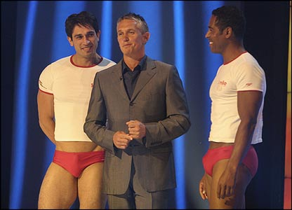 Gary Lineker (centre) and guests