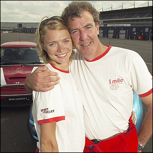 Top model Jodie Kidd and Jeremy Clarkson