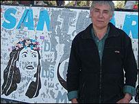 Carlos Maza, creador del santuario de Gilda