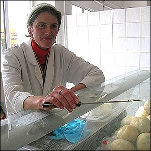 Cheese seller Florica Ilcus