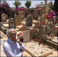 Sami Cohen in the cemetery