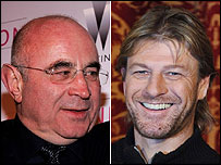 Bob Hoskins (L) and Sean Bean (R) Getty Images
