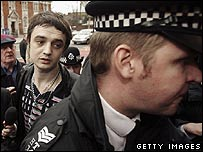 Pete Doherty at court on 20 April