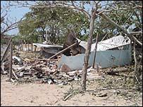 Destroyed Tamil Tiger camp