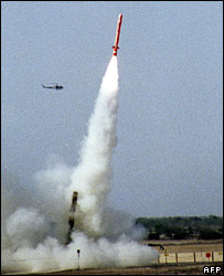 Hatf missile test-fired in March 2006