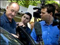 Luiz Felipe Scolari is quizzed by reporters