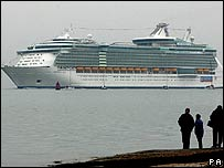 Freedom of the Seas arrives in Southampton