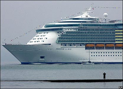The vessel, which has more than 1,800 rooms for up to 4,375 passengers