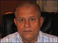 El jefe del departamento de arqueolog�a, Guima Anag