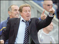 Portsmouth boss Harry Redknapp celebrates