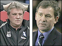 Birmingham manager Steve Bruce (left) and West Brom counterpart Bryan Robson