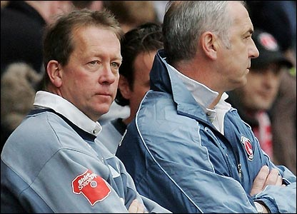 Alan Curbishley with coach Mervyn Day