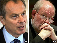 Tony Blair and Charles Clarke
