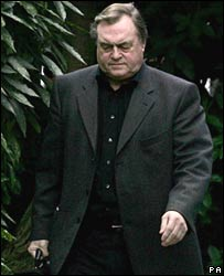 John Prescott arriving at his home in Hull